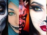 maquillage halloween strasbourg alsace gore skull sang